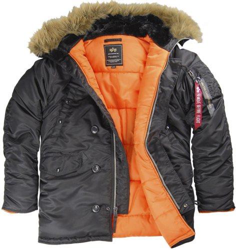 куртка Alpha Slim Fit N3B Black