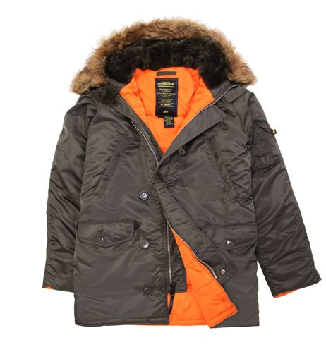 куртка Alpha Slim Fit N3B Replica Grey