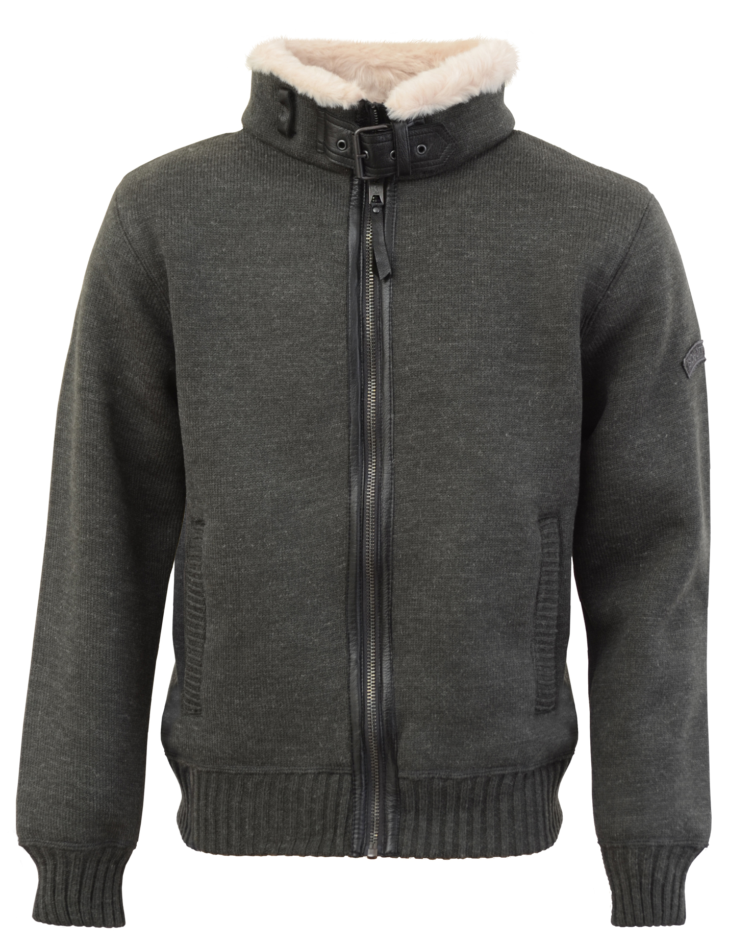 куртка Schott F1150 heather grey