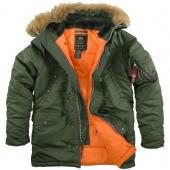 куртка Alpha Slim Fit N3B Replica Sage Green